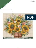 Goblen - Cos Cu Floarea Soarelui