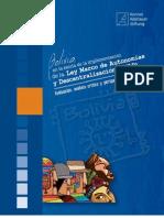 Bolivia en la senda de la implementación de la Ley Marco de Autonomías y Descentralización (LMAD)
