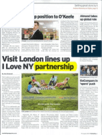 Visit London Lines Up i Love Ny Partnership