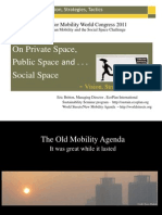 """Urban Mobility and the Social Space Challenge"""