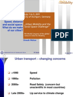 Speed, Distance and Social Space. What Do We Make of Our Cities