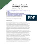 Principales Teorías sobre Desarrollo Económico y Social y su aplicación en América Latina y el Caribe