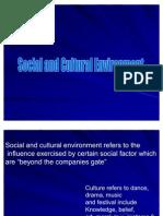 Social and Cultural Environment Ppt