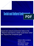 How does socio-cultural environment impact a small business?