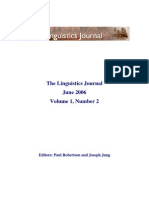 The Linguistic Journal