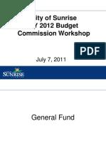 Commission July 7 FY 2012 Budget Workshop 7-1-11