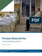 The Ryan Medicaid Plan