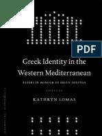 K. Lomas-Greek Identity in the Western Mediterranean
