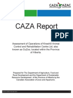 CAZA Full Report of GuZoo Inspection, May2011