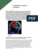 Introspecţia stimulează creşterea materiei cerebrale