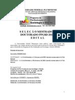 Edital PPGSD 2011 Mestrado e Doutorado