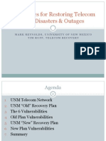 Techniques  for  Restoring  Telecom   after  Disasters  &  Outages