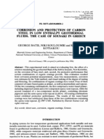 Corrosión and protection of carbon steel in low enthalpy geothermal fluids