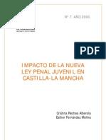 RECHEA y FERNANDEZ (2000) Impacto de La Nueva Ley Penal Juvenil en Castilla La Mancha