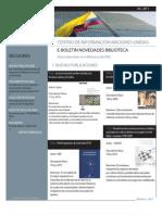 Boletín CINU Julio 2011