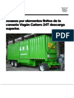 Informe canasta vagon cañero