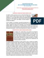 BOLETÍN DE NOTICIAS Nª 1- ANHE