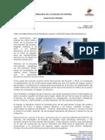 Tres locomotoras ecuatorianas llegan a España para ser reparadas