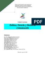 Politica, Derecho y Medios de Comunicacion