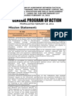 Moa Tf & Tesda Program of Action