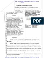 LIBERI v TAITZ (C.D. CA) - 278 - NOTICE OF MOTION AND MOTION to Stay Case pending case filed by defendants DEFEND OUR FREEDOMS FOUNDATIONS, INC - gov.uscourts.cacd.497989.278.0