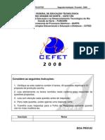 3-PROVA PROCEFET-2008