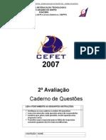 4-PROCEFET-2007 2ª AVALIAÇÃO