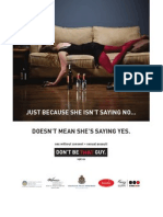 VPD Don't Be That Guy poster