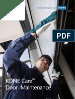 KONE Care Doors Maintenance