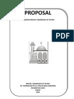Proposal Renovasi Mesjid & Madrasah at-tai'Bin