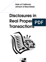 Disclosures in Real Estate Transactions
