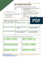Matemáticas - Fracciones y porcentajes de una cantidad