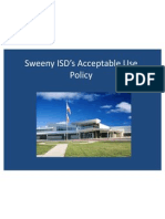 sweeny isds acceptable use policy