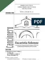 Eucaristia Solemne con motivo de la Clausura del Año Académico 2010-2011  SASRL