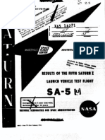 Results of the Fifth Saturn I Launch Vehicle Test Flight