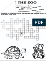 At the Zoo Crossword