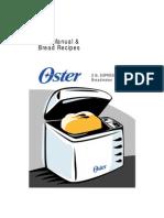 Oster 2lb Express Bake Bread Maker Manual & Recipes