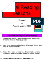 Lessons for Critical Reading