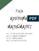 Folio Additional Mathematics Project Work 1 - Integration