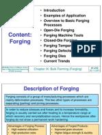 MFGE303 Chp IX Forging