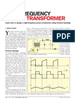 Learn How to Design a High-frequency Power Transformer Using Forward Topology
