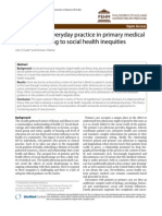 the Ethics of Everyday Practice in Primary Medical Care-responding to Social Health Inequities