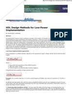 2009 Design Reuse HDL Low Power Design