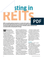 Investing in REIT's Article in Canadian Real Estate Magazine[1]