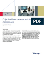 Objective Measurements and Subjetive Assessments