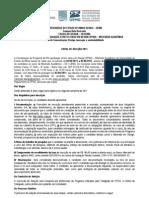 Edital Mestrado 2011