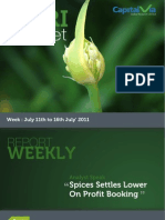 Agri Commodity Reports for the Week (11th - 15th July '11)