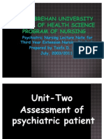 Assessment of Psychiatric Patient