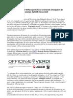 Officinae Verdi - fonti rinnovabili ed efficienza energetica il 90% italiani è favorevole