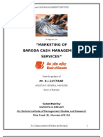 """MARKETING OFBARODA CASH MANAGEMENT SERVICES BY NEELAM NIVEDITA"